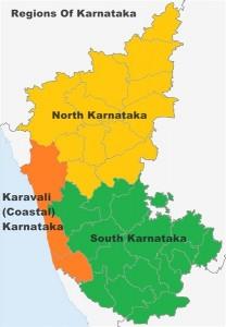 Karnataka poll prediction 2018, Karnataka Map. Image created by Raghu Naik NC