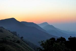 Karnataka Tourism, Coorg district, Sunrise at Thadiyandamol hills in Coorg