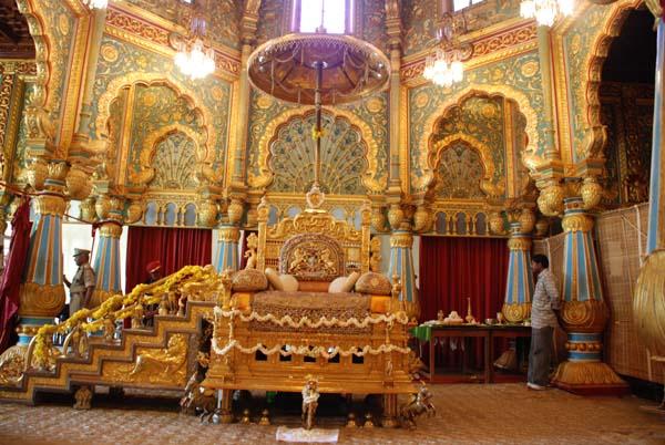 Mysore,Golden throne in Mysore palace., mysore palace, One day trip to Mysore