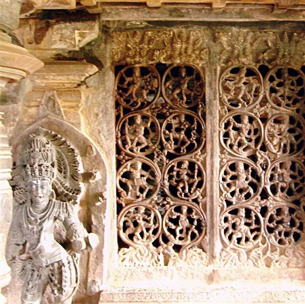 Tripurantakesvara Temple Sculpture and Grill work at Balligavi. Photographer Dinesh Kannambadi