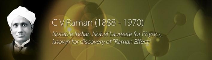Sir. CV Raman Image source http://www.indoafrica-cvrf.in