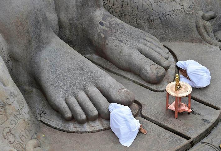 Mahamastakabhisheka in Shravanabelagola, Jain monuments in Karnataka