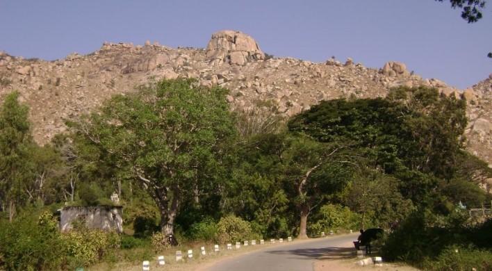 Trekking at Antaragange, near Kolar