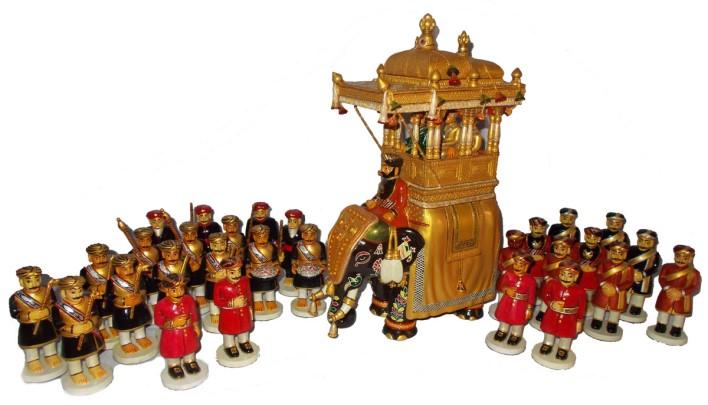 dasara procession dolls. Image source W@yfarer's Club, dasara elephants