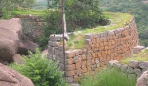 Savandurga Fort Wall. Photo source Karnatakatravel