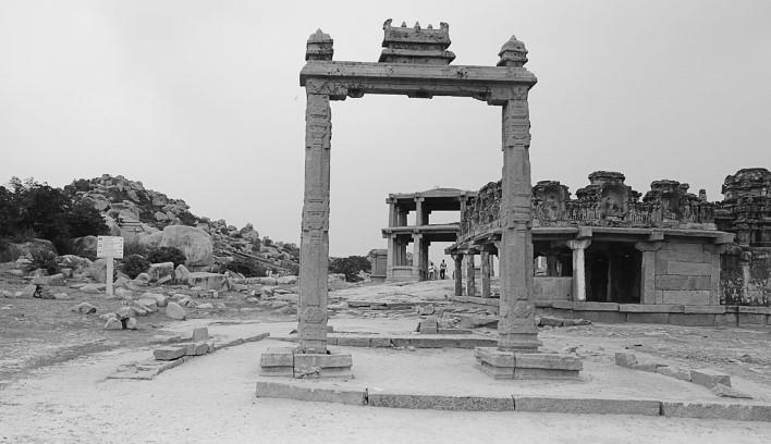 King's Balance, Hampi. Photographer Kanchan Joshi