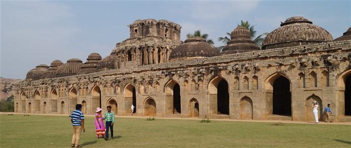 hampi by night Elephant Stable, Lotus Mahal, Hampi. Copyright Karnataka.com