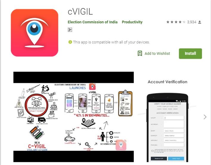 ECI apps for Lok Sabha election